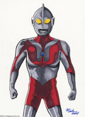 Original Comic Art:Splash Pages, JE Smith - Ultraman Original Illustration (2004). The originalspaceman from the Nebula M-78, this monster-fighting hero fro...