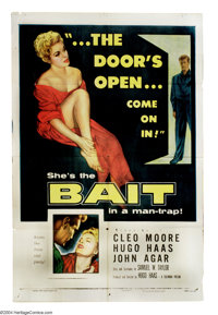 """Bait (Columbia, 1954). One Sheet (27"""" X 41""""). Hugo Haas, the director of such films as """"Pickup,"""" &qu..."""