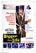 "Movie Posters:Comedy, Bigger Than Life (20th Century Fox, 1956). One Sheet (27"" X 41"").James Mason stared in ( and produced ) this 1956 tale of p..."