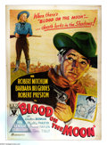 "Movie Posters:Western, Blood on the Moon (RKO, 1948). Australian One Sheet (27"" X 40"").Robert Mitchum stars in this noir western. Lovely stone lit..."