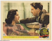 """Boom Town (MGM, 1940). Lobby Card (11"""" X 14""""). Tracy and Hedy Lamarr portrait card from the set. Minor stainin..."""