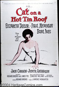 """Movie Posters:Drama, Cat on a Hot Tin Roof (MGM, 1958). Military One sheet (27"""" X 41""""). Tennessee Williams Pulitzer play in a classic filmed vers..."""