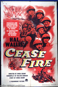 """Movie Posters:War, Cease Fire! (Paramount, 1953). One Sheet (27"""" X 41""""). Quasidocumentary released at the end of the Korean War shot on the ba..."""