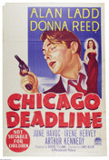"Movie Posters:Film Noir, Chicago Deadline (Paramount, 1949). Australian One Sheet (27"" X40""). Alan Ladd and Donna Reed star in this dark film noir. ..."