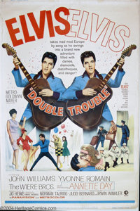 """Double Trouble (MGM, 1967). (40"""" X 60""""). Elvis Presley stars as a traveling rock musician in England. Rolled..."""