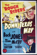 "Movie Posters:Western, Down Texas Way (Monogram, 1942). One Sheet (27"" X 41""). RoughRider's western starring Buck Jones, Tim McCoy and Raymond Hat..."
