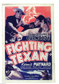 "Movie Posters:Western, Fighting Texan, The (Ambassador Pictures, 1937). One Sheet (27"" X41""). Kermit Maynard, Ken Maynard's brother, stars in this..."