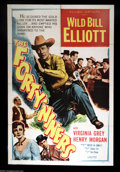 "Movie Posters:Western, Forty-Niners (Allied Artists, 1954). One Sheet (27"" X 41""). Greatshape Wild Bill Elliott one sheet. Vivid colors and classi..."