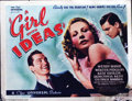 "Movie Posters:Comedy, Girl With Ideas (Universal, 1937). Half Sheet (22"" X 28""). A richbanker's daughter gains control of a large newspaper in th..."