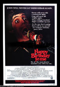 "Movie Posters:Horror, Happy Birthday to Me (Columbia, 1981). One Sheet (27"" X 41""). Slasher flick from 20 years ago. Minor corner crumple in lower..."