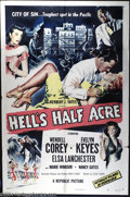 "Movie Posters:Film Noir, Hell's Half Acre (Republic, 1954). One Sheet (27"" X 41""). A stylishyet often overlooked film noir noted for being the only ..."