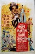 "Movie Posters:Comedy, Here Comes the Girls (Paramount, 1953). One Sheet (27"" X 41""). 50'sBob Hope comedy. One sheet pictures terrific bevy of bea..."
