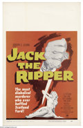 """Movie Posters:Mystery, Jack the Ripper (Paramount, 1960). Window Card (14"""" X 22""""). British made retelling of the Jack the Ripper legend. Very Fine/..."""