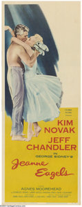 "Movie Posters:Drama, Jeanne Eagles (Columbia, 1957). Insert (14"" X 22""). Kim Novak and Jeff Chandler star in 1957 drama. Insert is in great shape..."
