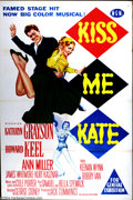 "Movie Posters:Musical, Kiss Me Kate (MGM, 1953). Australian One Sheet (27"" X 41"").Striking graphics from MGM version of Cole Porter musical. Some ..."
