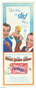 "Movie Posters:Comedy, Notorious Landlady (Columbia, 1961). Insert (14"" X 36""). JackLemmon, Fred Astaire and Kim Novak in the title role, star in ..."