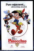 """Movie Posters:Animated, Pinocchio (Disney, R-1981). One Sheet (27"""" X 41""""). Disney'sanimation classic about the wooden puppet who wants to be a boy...."""