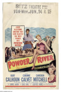 """Movie Posters:Western, Power River (20th Century, 1953). Window Card (14"""" X 22""""). 50'swestern with Rory Calhoun. WC has some staining and crumpled..."""
