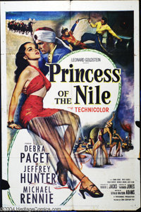 "Princess of the Nile (20th Century Fox, 1954). One Sheet (27"" X 41""). Debra Pagent and Jeffrey Hunter star. Go..."
