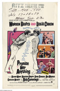 "Movie Posters:Comedy, Promise Her Anything (Paramount, 1966). Window Card (14"" X 22"").This Arthur Hiller comedy starred Warren Beatty as a soft p..."