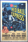 """Movie Posters:War, Red Ball Express (Universal, 1952). One Sheet (27"""" X 41""""). JeffChandler stars in this WWII story about the men who ran the ..."""