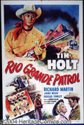"Movie Posters:Western, Rio Grande Patrol (RKO, 1950). One Sheet (27"" X 41""). Tim Holtwestern. Very Fine...."