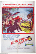 "Movie Posters:Adventure, Run for the Sun (United Artists, 1956). One Sheet (27"" X 41"").Richard Widmark, Trevor Howard and Jane Greer star in this re..."
