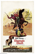 """Movie Posters:Drama, Savage Sam (Buena Vista, 1963). Window card (14"""" X 22""""). Disney family live action with Tommy Kirk and Brian Keith. Great sh..."""