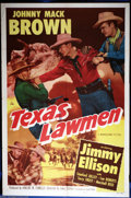 "Movie Posters:Western, Texas Lawmen (Monogram, 1951). One Sheet (27"" X 41""). Star, JohnnyMack Brown, an All-American half-back with the University..."