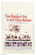 "Movie Posters:Comedy, Those Magnificent Men in Their Flying Machines (20th Century Fox,1965). Window card (14"" X 22""). One of a string of ""mad-da..."