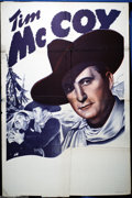 "Movie Posters:Western, Tim McCoy Stock (Monogram, 1940). One Sheet (27"" X 41""). Tim McCoy,one of the biggest western stars of the late twenties, e..."