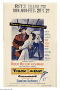 "Movie Posters:Western, Track of the Cat (Warner Brothers, 1954). Window Card (14"" X 22"").Producer John Wayne promised director William Wellman tha..."