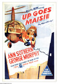 "Movie Posters:Comedy, Up Goes Maisie (MGM, 1946). Australian One Sheet (27"" X 40""). Inthe ninth entry in the ""Maisie"" series, Ann Southern tries ..."