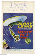 "Movie Posters:Comedy, Visit to a Small Planet (Paramount, 1960). Window Card (14"" X 22"").Jerry Lewis stars in the screen version of Gore Vidals' ..."