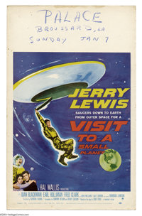 "Visit to a Small Planet (Paramount, 1960). Window Card (14"" X 22""). Jerry Lewis stars in the screen version of..."
