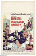 "Movie Posters:Comedy, Who's Minding the Store? (Paramount, 1963). Window Card (14"" X22""). A later Jerry Lewis vehicle co-starring Jill St. John. ..."