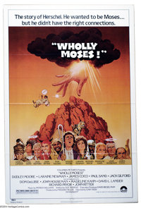 "Wholly Moses (Columbia, 1980). One Sheet (27"" X 41""). This religious parody of the early eighties was 100 minu..."