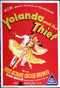 "Yolanda and the Thief (MGM, 1945). Australian One Sheet (27"" X 40""). Stone lithograph poster to the Vincent Mi..."