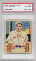 Baseball Cards:Singles (1930-1939), Baseball 1935 DIAMOND STARS CARL HUBBELL #39 NM/MT PSA 8. ...