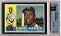 Baseball Cards:Singles (1960-1969), Baseball 1960 TOPPS HANK AARON #300 NM/MT GAI 8. SMR Value=...