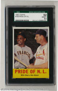 Baseball Cards:Singles (1960-1969), Baseball 1963 TOPPS PRIDE OF N.L. #138 W.MAYS/S.MUSIAL NM/MT+...