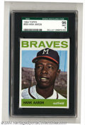 Baseball Cards:Singles (1960-1969), Baseball 1964 TOPPS HANK AARON #300 Mint SGC 96. SMR Value=...