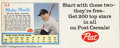 Baseball Cards:Other, Baseball 1962 POST CEREAL Mickey Mantle/Roger Maris Insert ...