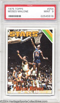 Basketball Cards:Singles (1970-1979), Basketball 1975 TOPPS MOSES MALONE #254 Mint PSA 9. SMR ...