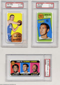 Basketball Cards:Lots, Basketball 1970 Topps 3 CARD LOT NM/MT PSA 8. INCLUDES #1 ... (3cards)