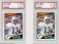 Football Cards:Singles (1970-Now), Football (2) 1984 TOPPS DAN MARINO #123 NM/MT PSA 8. SMR ... (2cards)