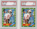 Football Cards:Singles (1970-Now), Football (2) 1986 TOPPS JERRY RICE #161 NM PSA 7. Two ... (2 cards)