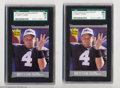 Football Cards:Singles (1970-Now), Football (2) 1991 ULTRA UPDATE BRETT FAVRE Gem Mint SGC 98.