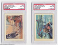 Non-Sport Cards, Non-Sport 1956 Adventure (2) Card Lot PSA MINT 9. Two card ... (2cards)