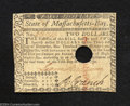 Colonial Notes:Massachusetts, May 5, 1780, $2, Massachusetts, MA-279, AU, COC.Very ...